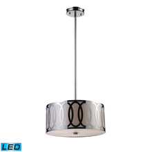 ELK Lighting 10173/3-LED - Anastasia 3 Light LED Pendant In Polished Nickel