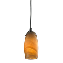 ELK Lighting 10223/1MEL-LED - Favelita 1 Light LED Pendant In Satin Nickel And