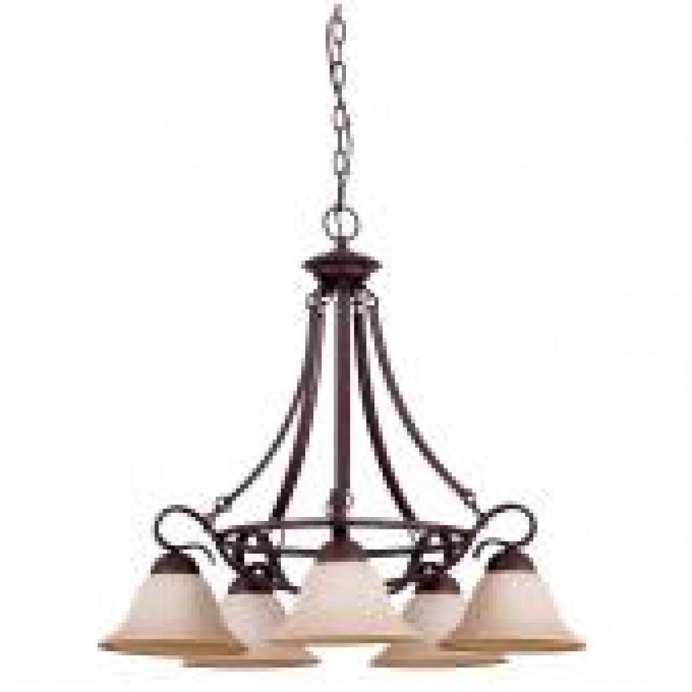 5 lt 100w mb venice chandelier down