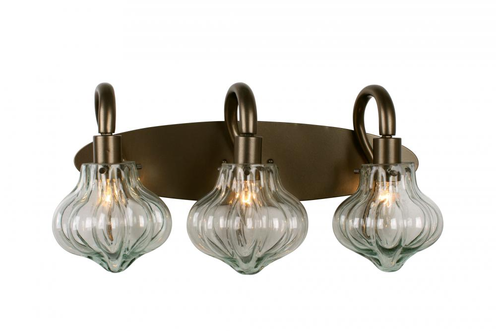 Two Light New Bronze Recycled Handmade Vintage Gl Vanity