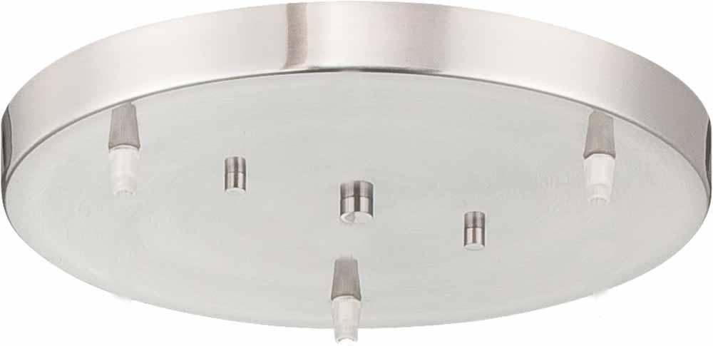 Brushed Nickel 3 Light Conversion Pendant Ceiling Canopy