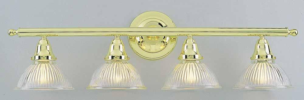 Merveilleux 4 Light Polished Brass Bathroom Vanity