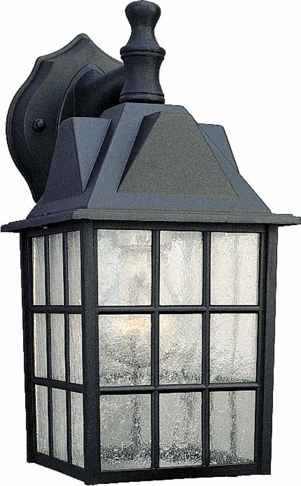 1 Light Black Outdoor Wall Sconce V8510 5 Lighting Depot