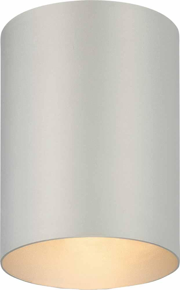 1 Light Silver Grey Outdoor Flush Mount Ceiling Fixture
