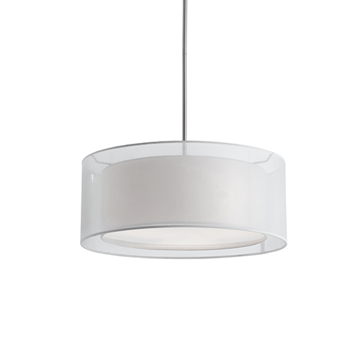 Two Lamp Pendant With Round Shade 42332w Lighting Depot
